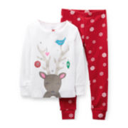 Carter's® 2-pc. Long-Sleeve Christmas Pajama Set – Girls 2t-5t