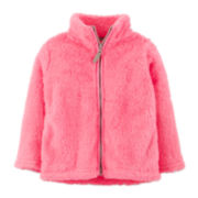 Carter's® Faux Fur Zip-Front Jacket – Girls 6m-24m