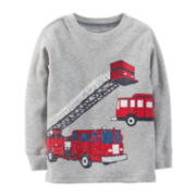 Carter's® Long-Sleeve Thermal Fire Truck Tee – Boys 6m-24m