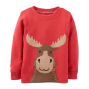 Carter's® Long-Sleeve Thermal Moose Tee – Boys 6m-24m