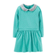 Carter's® Long-Sleeve Sequin Collar Dress – Girls 2t-5t