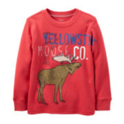 Carter's® Long-Sleeve Thermal Moose Tee – Boys 2t-4t