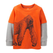Carter's® Long-Sleeve Knit Gorilla Tee – Boys 2t-4t