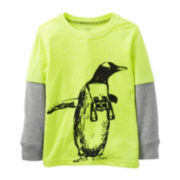 Carter's® Long-Sleeve Knit Penguin Tee – Boys 2t-4t