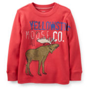 Carter's® Long-Sleeve Thermal Moose Tee – Boys 5-7