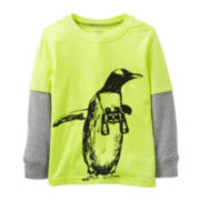 Carter's® Long-Sleeve Knit Penguin Tee – Boys 5-7
