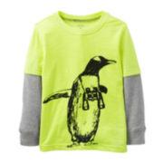 Carter's® Long-Sleeve Knit Penguin Tee – Boys 5-7