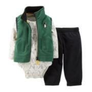 Carter's® 3-pc. Vest, Bodysuit and Pants Set – Boys newborn-24m