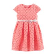 Carter's® Geometric Lace Dress – Girls newborn-24m