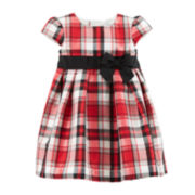 Carter's® Taffeta Plaid Dress – Girls newborn-24m