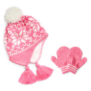 Carter's® Pink Hat and Mitten Set – Girls 12m-24m