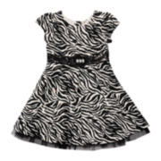 Youngland® Short-Sleeve Brush-Knit Dress - Girls 2t-6
