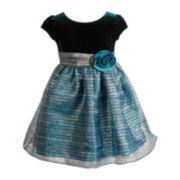 Youngland® Cap-Sleeve Occasion Dress - Girls 2t-6
