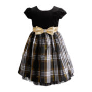 Youngland® Plaid Occasion Dress - Girls 2t-6