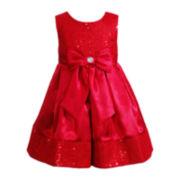 Youngland® Satin Sleeveless Dress - Girls 2t-6