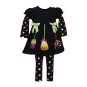 Bonnie Jean 2-pc. Halloween Leggings Set - Girls 2t-4t