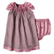 Wendy Bellissimo™ Cap-Sleeve Silk Dress – Girls 6m-24m