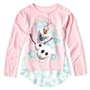 Disney Frozen Long-Sleeve Chiffon Top - Girls 7-16