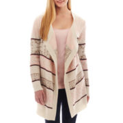 Arizona Aztec Print Open-Front Cardigan - Plus