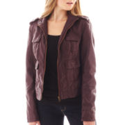 Arizona Faux-Leather Bomber Jacket