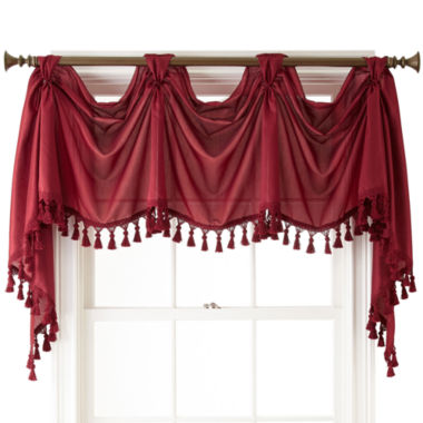 jcpenney.com | Royal Velvet® Encore Rod-Pocket Victory Valance