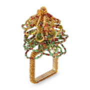 Beaded Tree Set of 4 Napkin Rings