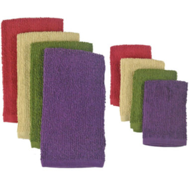 jcpenney.com | Urban Bar Mop 8-pc. Dish Towel and Dishcloth Set