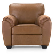 Leather Possibilities Pad-Arm Chair