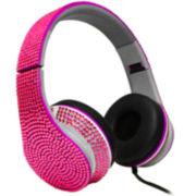 Bling Rhinestone Stereo Headphones