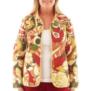 Alfred Dunner® Avondale Road Floral Print Quilted Jacket - Petite