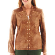Alfred Dunner® Avondale Road Faux-Suede Jacket