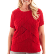Alfred Dunner® Manhattan Skyline Tiered Accordion Knit Top