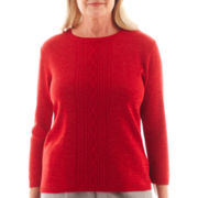 Alfred Dunner® Manhattan Skyline 3/4-Sleeve Lurex® Sweater