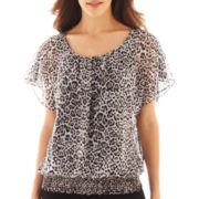 Alyx® Flutter-Sleeve Print Top