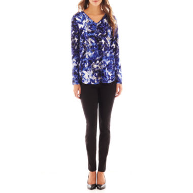 jcpenney.com | Alyx® V-Neck Tunic Top or Slim-Leg Pull-On Pants