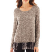 Alyx® 3/4-Sleeve Split-Back Layered Top