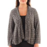 Alyx® 3/4-Sleeve French Terry Cardigan Sweater - Plus