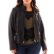 a.n.a® Faux-Leather Moto Jacket - Plus