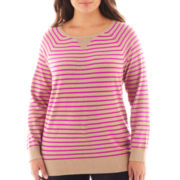 a.n.a® Long-Sleeve Crewneck Sweater - Plus