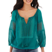 Arizona Long-Sleeve Peasant Top