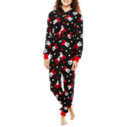 Minnie Mouse Long-Sleeve One-Piece Hooded Pajamas