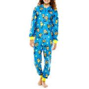 Minions Long-Sleeve One-Piece Hooded Pajamas
