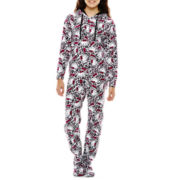 Hello Kitty® Long-Sleeve Microfleece One-Piece Footed Pajamas