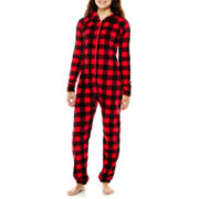 Flirtitude® Long-Sleeve One-Piece Hooded Pajamas