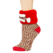 Mixit™ Womens Sock Monkey Cozy Socks