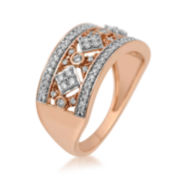 1/2 CT. T.W. Diamond 10K Rose Gold Ring