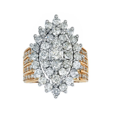 jcpenney.com | 4 CT. T.W. Diamond 14K Yellow Gold Marquise-Shaped Ring