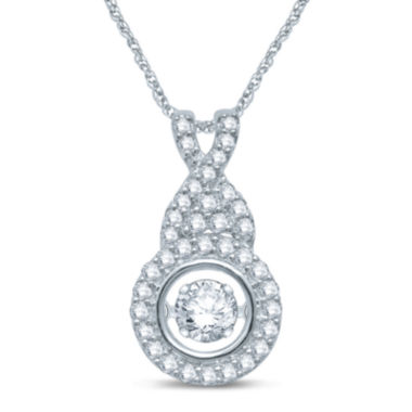 jcpenney.com | Love in Motion™ 3/8 CT. T.W. Diamond 10K White Gold Pendant Necklace