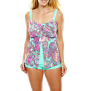 Aqua Couture Flyaway Bandeaukini Swim Top or Boyshorts - Plus