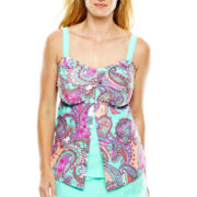 Aqua Couture Flyaway Bandeaukini Swim Top - Plus